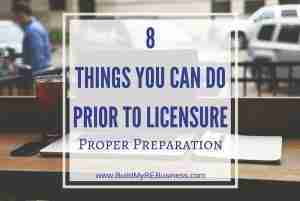 8 Things You Can Do Prior to Licensure – Proper Preparation